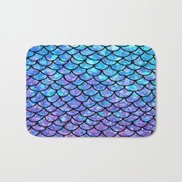 Purples & Blues Mermaid scales Bath Mat
