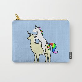Unicorn Riding Llamacorn Carry-All Pouch