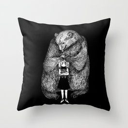 Two bears Throw Pillow