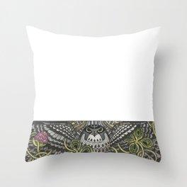 Falcon on clover Throw Pillow