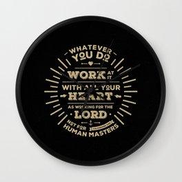 Colossians 3 vers 23 Wall Clock