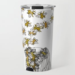 The Arrival of the Bee Box Travel Mug