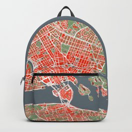 Stockholm city map classic Backpack
