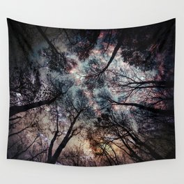 Starry Sky in the Forest Wall Tapestry