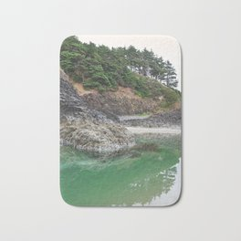 Oregon Coast Tide Pool Green Glowing Forest Coastal Cliff Rocky Landscape Beach Northwest Volcano Bath Mat