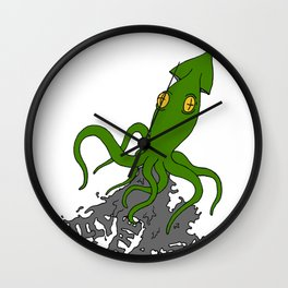 Billy And The Matts Earth Squid Wall Clock