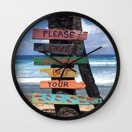 Beach Signs Wall Clock