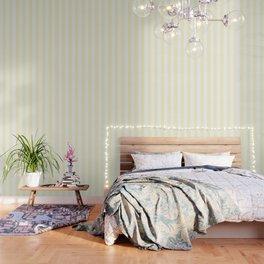 Lemon chiffon pink - solid color - white vertical lines pattern Wallpaper
