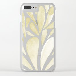 Watercolor artistic drops - yellow Clear iPhone Case