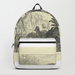 Lion at a watering place Backpack