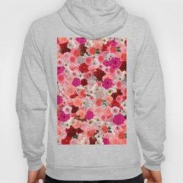 pink floral pattern Hoody