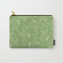 Hobby Horse (Green) Carry-All Pouch