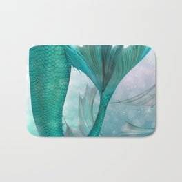 Mermaids Fantasy Pastel Sea Ocean Bath Mat