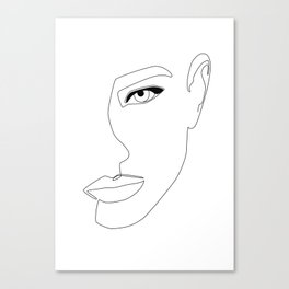 Face Shadow Canvas Print