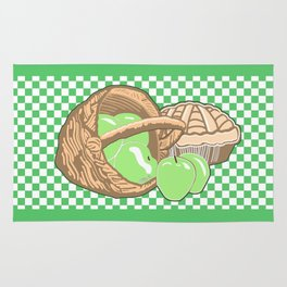 Basket of Granny Smith Apples & Pie Rug