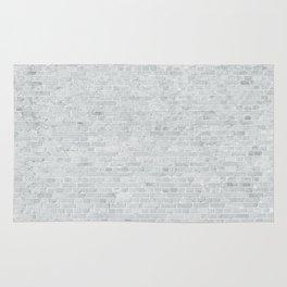 White Washed Brick Wall Stone Cladding Rug