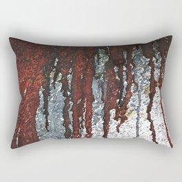 Bloody Rust Drips Rectangular Pillow