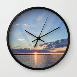 A Seattle Sunset Wall Clock