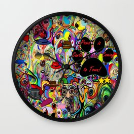 Santa Paws is Coming to Town Wall Clock