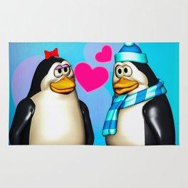 Penguin Romance Rug