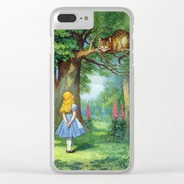 Cheshire Cat Clear iPhone Case