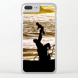 Laguna Beach Sunset Clear iPhone Case