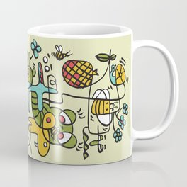 The Buzzz Doodle Monster World by Pablo Rodriguez (Pabzoide) Coffee Mug