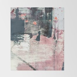 Sweet tooth [7]: a colorful abstract mixed media piece in pink, blues, and white Throw Blanket