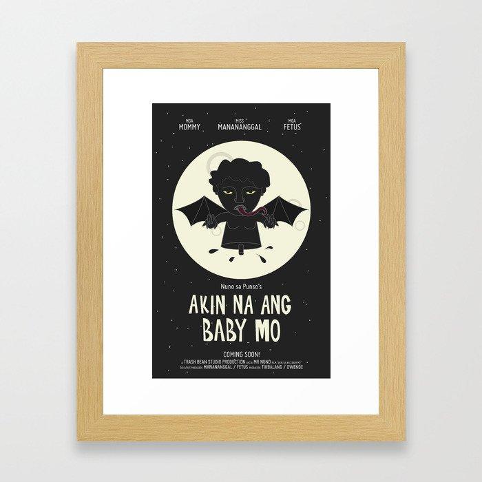 Akin Na Ang Baby Mo (Philippine Mythological Creatures Series) Framed Art Print