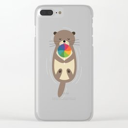 Sweet Otter Clear iPhone Case
