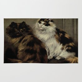 Vintage Painting of Fluffy Cats (1902) Rug