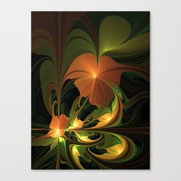 Fantasy Plant, Abstract Fractal Art Canvas Print