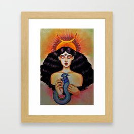 Chatting with the Ego Framed Art Print