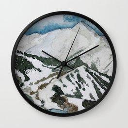 Snowmass Ski Area Watercolor Wall Clock