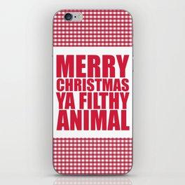 Merry Christmas Ya Filthy Animal iPhone Skin
