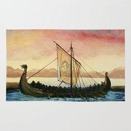 Drakkar, watercolor Rug