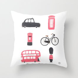 London Town Throw Pillow