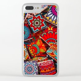 V1 Traditional Moroccan Colored Stones. Clear iPhone Case