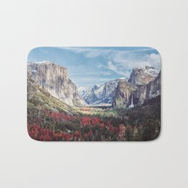 Tunnel View Yosemite Valley Bath Mat