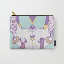 Strange Serpent Tongue Snake Cat Drawing Carry-All Pouch