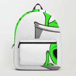 Alien in a pocket smoking weed / blunt Backpack
