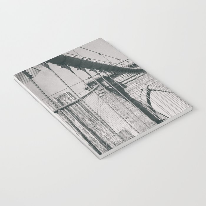 Brooklyn bridge, architecture, vintage photography, new york city, NYC, Manhattan view Notebook