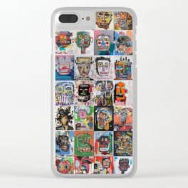 Basquiat Faces Montage Clear iPhone Case