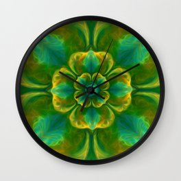 The Flower of Positivity  Wall Clock