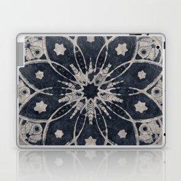 MANDALA BLUE BOHEMIAN GEOMETRIC ABSTRACT Laptop & iPad Skin