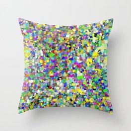 Da People Glitch Pattern Throw Pillow