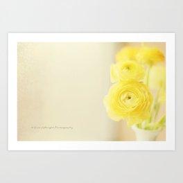 Sunshine in Flowers Art Print