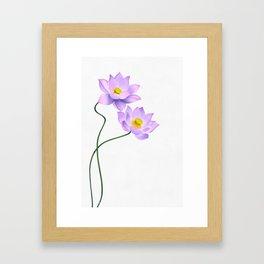 Thamarai, Yellow Flower, Floral Pattern, Yellow Blossom Framed Art Print