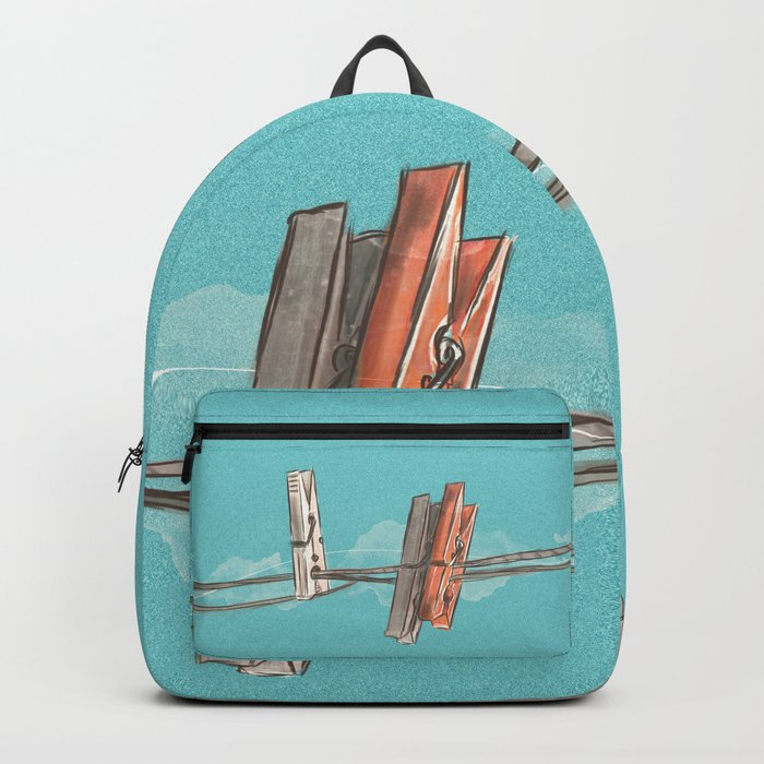 Boho Clothespin Backpack
