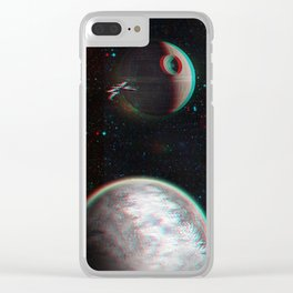 StarWars world 3D Blue+Red anaglyph Clear iPhone Case